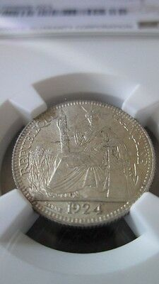 French Indochina 10 Cents 1924A NGC MS 64