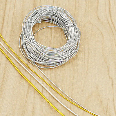 10m Gold Silver Elastic Stretch Thread 1mm/1.5mm Beading String DIY Hand Craft