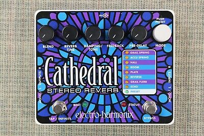 Electro-Harmonix Cathedral Stereo Reverb Guitar Effects Pedal Beautiful