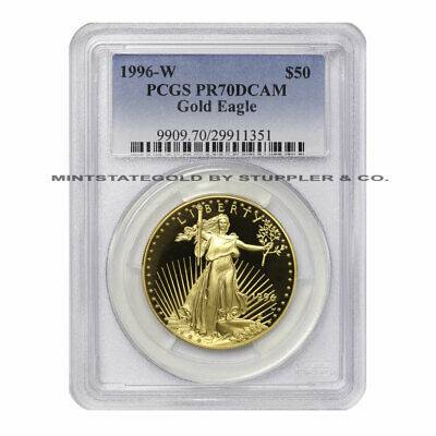 1996-W $50 Eagle PCGS PR70DCAM American Gold Bullion Deep Cameo Proof 1oz coin