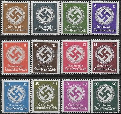 Germany 3rd Reich Mi# 166-177 Official Stamps Issued 1942/44 MH *