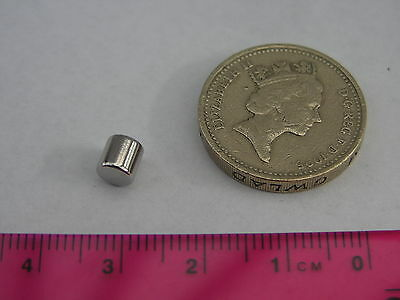 20 of D5mm x 5mm Rod Magnets - Powerful - Neodymium, Rare Earth Strong Small