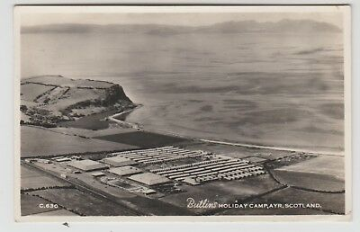 Butlin's Holiday Camp, Ayr, in Aero Pictorial Real Photo PPC, GVG Used 1957
