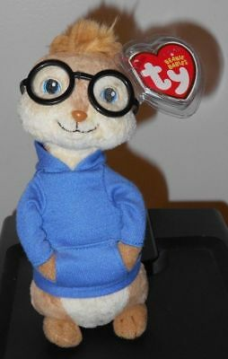 Ty Beanie Baby ~ SIMON 7 Inch (Chipmunk from Alvin and the Chipmunks) MWMT