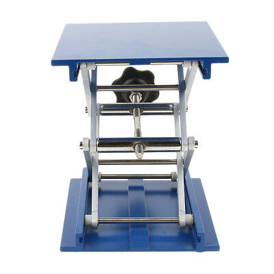 "6"" Aluminum Oxide Lab Stand Table Scissor Lift Jack for Laboratory 150x150mm"