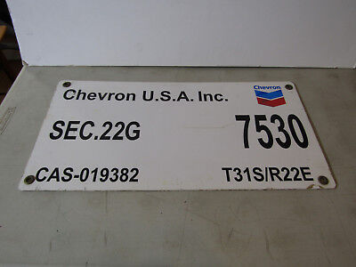 Vintage Chevron Oil Well Lease 7530  Original Sign