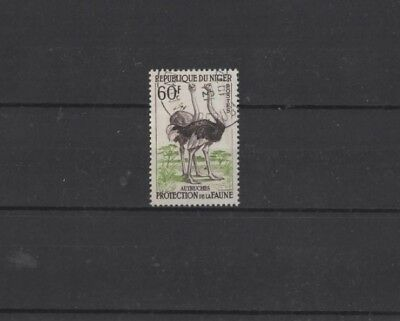NIGER , 1959, SG110 TYPE 7 60f SEPIA AND GREEN, USED........G.C.V..