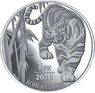 1 oz Silber Südkorea South Korea Tiger 2018