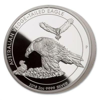 Australien 2 Oz Silber Piedfort Keilschwanzadler Wedge- Tailed Eagle 2018 Proof