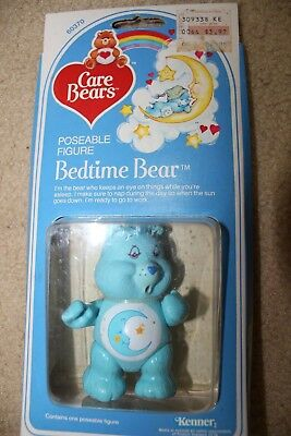 vintage 80's kenner care bears poseable figure bedtime  bear new  #60370