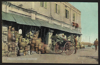 SINGAPORE postcard Crockery-Ware Shops