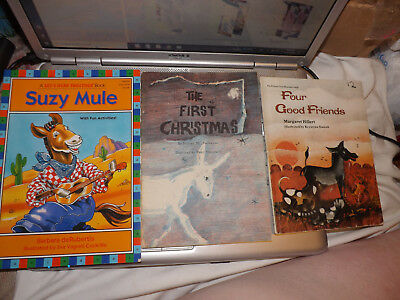 Three donkey/mule stories: Four Good Friends, The First Christmas, Suzy Mule