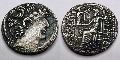 93-83BC Ancient Seleukid Kingdom Philip I Philadelphos AR Tetradrachm