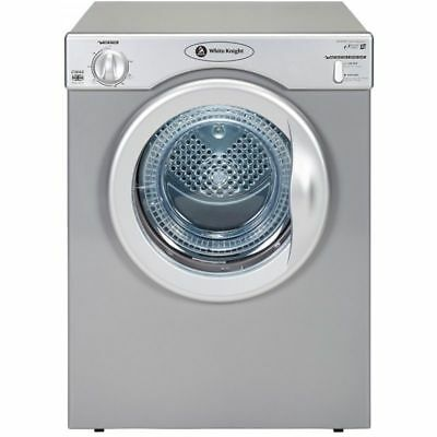 White knight C38AS Silver Compact Vented Tumble Dryer 3.5kg and 2 Heat settings