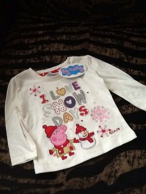 Brand New Peppa Pig Baby Christmas Top  ♡ ♡  ♡ 6-9 Months