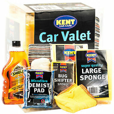 Kent Car Care Cleaning Valet Pack - Shampoo Wash Gift Set 8 Pce Kit G555