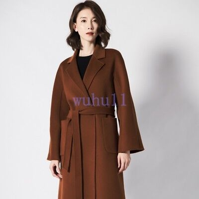 Trench Wool jacket Fashion CCC Lady Elegant tweed Overcoat Ladies Coat Size