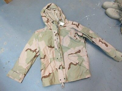 Usaf Us Army Desert Camo Gore-Tex Parka Large Short Ecwcs Air Force New
