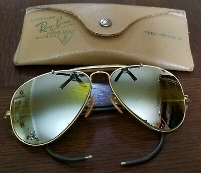 Vintage Bausch & Lomb Ray Ban, Dbl Gradient Mirrored / Yellow Aviator Sunglasses