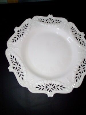 Leedsware Classical Creamware Large Centrepiece Cake / Sandwich Plate In Vgc
