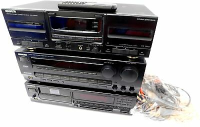 KENWOOD Hi-Fi Separates KX-W6060/KR-V7070/DP-M5570 Tape / AV / CD Player - B77