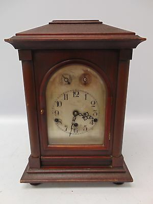 Large Vintage Mahogany MANTEL CLOCK Wind-Up Function Pendulum Chimes - M17