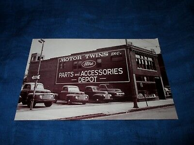 FORD MOTOR TWINS-PARTS & ACCESSORIES DEPOT-WILKES-BARRE, PA-1950s POSTCARD