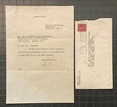 President Herbert Hoover Signed 1928 Typed Letter Autographed AUTO JSA LOA