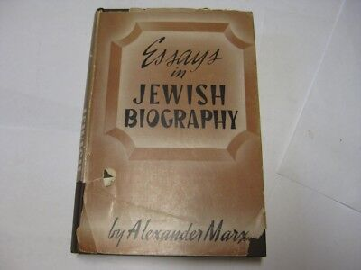 Essays In Jewish Biography by Alexander Marx JPS book