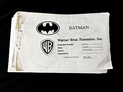 Batman: The Animated Series Production Storyboard Studio Copy 63 Pages  WB