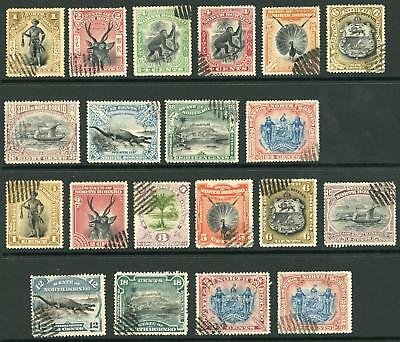 North Borneo 1897 onwards Selection of Cancelled to Order Stamps