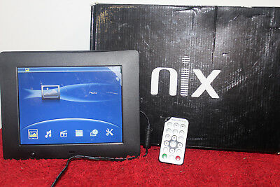 "Nix Hu-motion 8"" digital photo frame missing the stand includes remote1016716701"