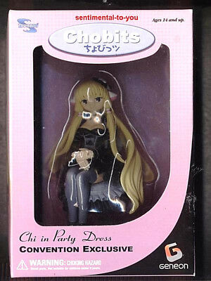 1000 Ltd. Ed. SDCC Chobits DARK CHI Black Party Dress Figure CLAMP Anime Manga