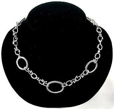 Michael Dawkins Sterling Silver Toggle Necklace 68.5 Grams 21 In Long Adjustable