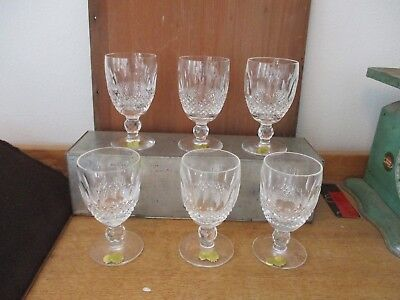 STUNNING! Waterford Crystal Set of 6 Wine ? Glasses / Stems   GORGEOUS!