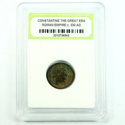 Slabbed Ancient Roman Constantine the Great Coin c. 330 AD Exact Coin Shown 3494