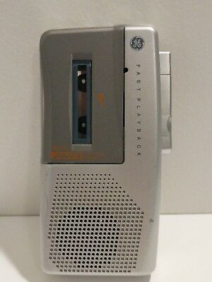 GE General Electric 3-5377A AVR Microcassette Recorder TESTED Tape Fast Playback