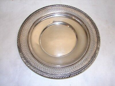 "antique Gorham Sterling silver small 9"" reticulated tray  # 253 p"