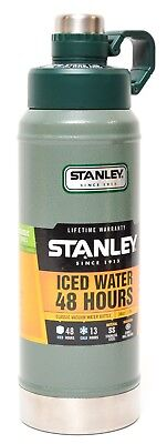 Stanley Classic Vacuum Insulated Water Bottle Stainless Steel 36oz 1.06L Green