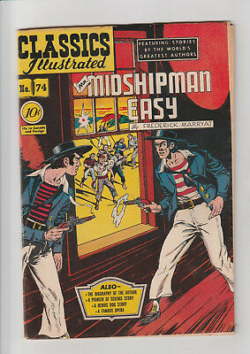 Classics Illustrated #74 HRN 75 1st Ed. Mr. Midshipman Easy (1950, Gilberton) F+