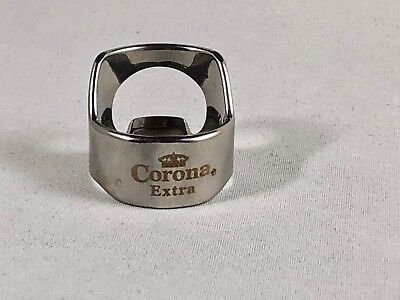Corona Extra Beer Bottle Opener Ring Stainless Steel Engraved Bar Tool