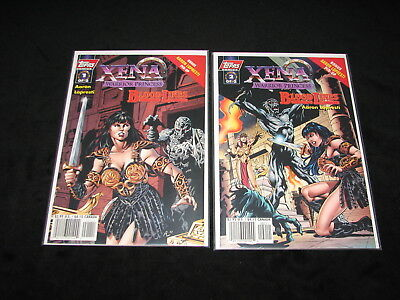 LOT /1 of 2 - 2 of 2 XENA Warrior Princess BLOOD LINES Topps 1998