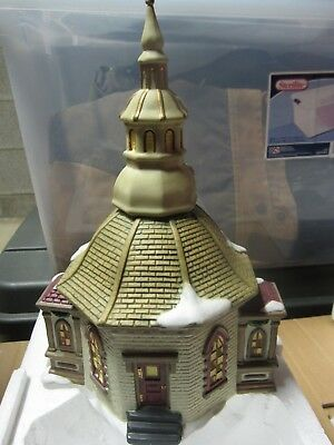 1997 Dickens Collectables Church Chapel Towne Series Porcelain Lighted House