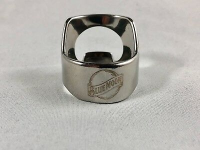 Blue Moon Beer Bottle Opener Ring Stainless Steel Engraved Bar Tool Samuel Adams