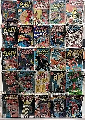 Copper Age Flash Comics Huge 25 Comic Book Collection Lot Set Run Book Box 2