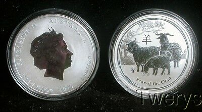 2 2015 1 Oz. Silver Perth Mint Lunar Year Of The Goat Coins