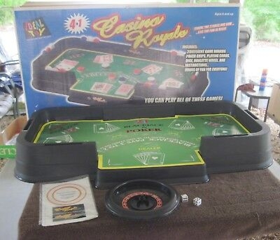 """Rare IDEAL TOY """"Casino Royale"""" Large Table Top Game, approx. 36""""x20"""",Good Cond."""