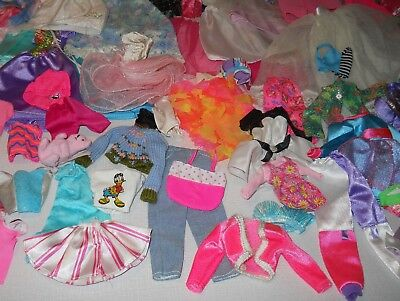 Barbie Lot of 80 Pieces Clothes & Accessories for Barbie, Ken, Kelly 80s and 90s