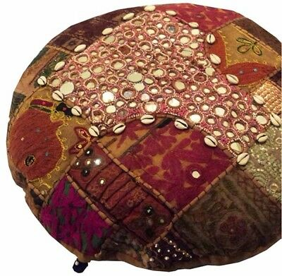 "Nr! 24"" Brown Bohemian Folk Banjara Art Décor Throw Accent Cushion Pillow Cover"