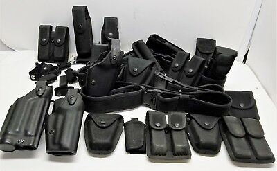 21 Pieces Police Tactical Gear Safariland Holsters Duraflex NEXUS Bianchi Used